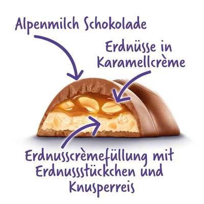 Шоколадный батончик с арахисом и карамелью Milka Peanut & Caramel 37 гр, фото 2