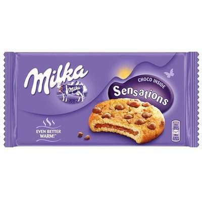 Печенье с шоколадной начинкой для разогрева Milka Sensations 156 гр, фото 1