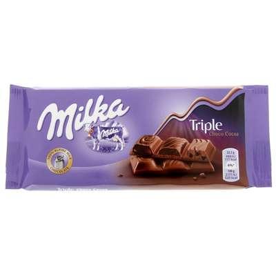 Шоколад с тремя видами какао начинки Milka Triple Choco 90 гр, фото 1