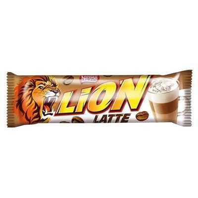 Батончик с начинкой вкуса кофе латте Nestle LION Latte 40 гр, фото 1