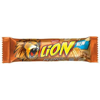 Шоколадный батончик с арахисом Nestle LION Peanut 42 гр, фото 3