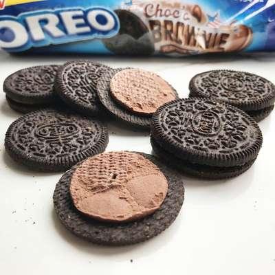 Шоколадное печенье со вкусом брауни Oreo Choco Brownie 154 гр, фото 2