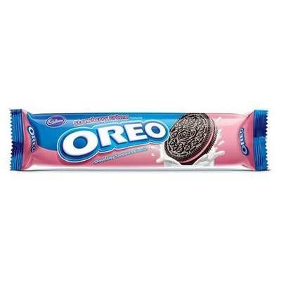 Печенье c клубничным кремом Oreo Strawberry Creme 137 гр, фото 1