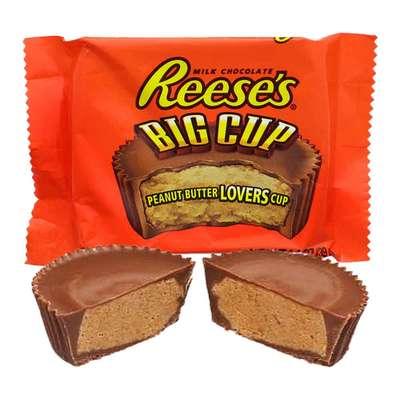 Большая конфета с арахисовой пастой в шоколаде Reese's Peanut Butter Big Cups 39 гр, фото 2