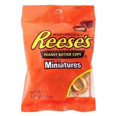 Конфеты с арахисовым маслом Reese's Peanut Butter Cup Miniatures 150 гр, фото 1