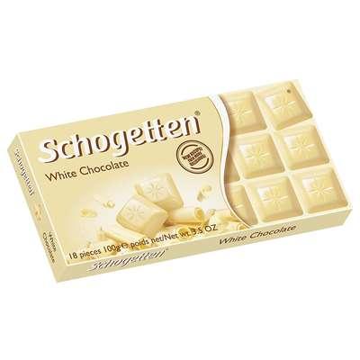 Белый шоколад плитка White Schogetten 100 гр, фото 1