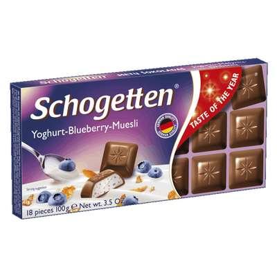 Шоколадная плитка Йогурт-Голубика-Мюсли Schogetten 100 гр, фото 1