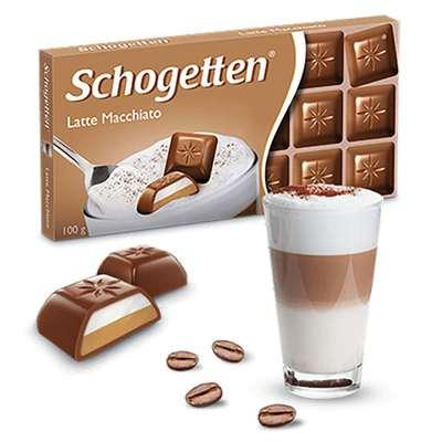 Молочный шоколад с начинкой Латте Макиато Schogetten 100 гр, фото 2