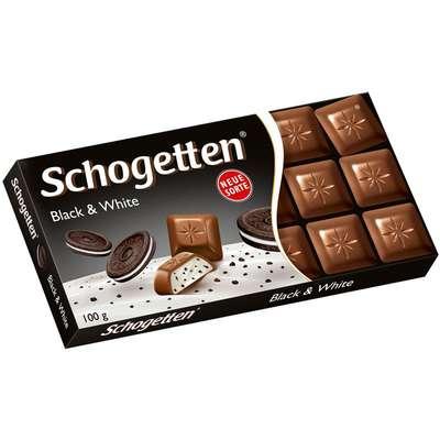 Шоколадная плитка Блек энд Вайт Schogetten 100 гр, фото 1