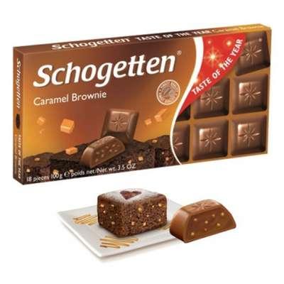 Шоколад с начинкой Карамельный Брауни Schogetten 100 гр, фото 1
