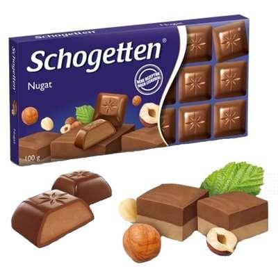 Шоколадная плитка с начинкой Нуга Schogetten 100 гр, фото 1