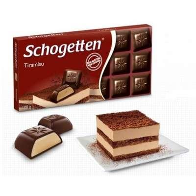 Шоколадная плитка с начинкой Тирамису Schogetten 100 гр, фото 1