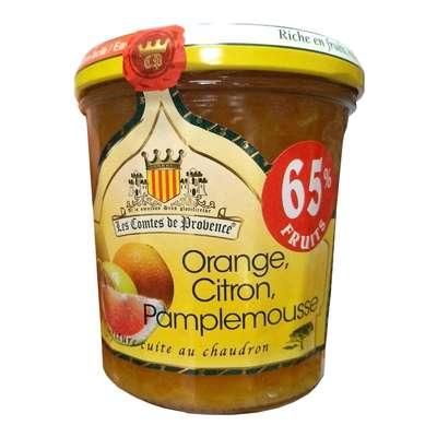 Джем из апельсина, лимона и грейпфрута 65% фруктов средиземноморский рецепт 340 гр, фото 1