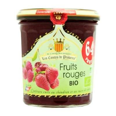 Джем из красных ягод 64% фруктов Organic 350 гр, фото 1