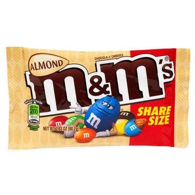 Большая пачка драже с миндалем M&M's Almond 80 гр, фото 1
