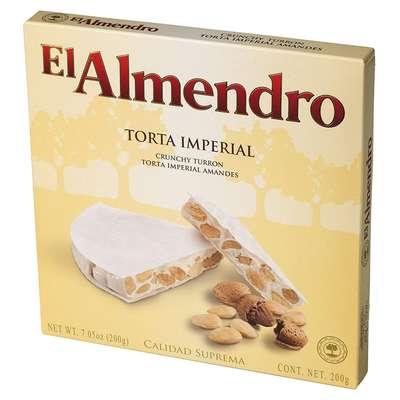 Хрустящий миндальный туррон Torta Imperial El Almendro 200 гр, фото 4