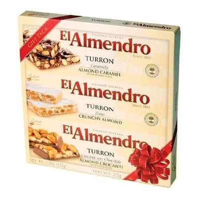 Ассорти 3 вида туррона в подарочной упаковке Gift Pack Turron El Almendro 225 гр, фото 2