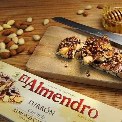 Хрустящий миндальный туррон с кунжутом Caramel Turron El Almendro 75 гр, фото 3