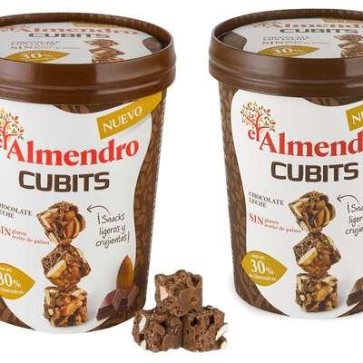Кубики миндаль 30% и хрустящий рис с молочным шоколадом El Almendro 100 гр, фото 2