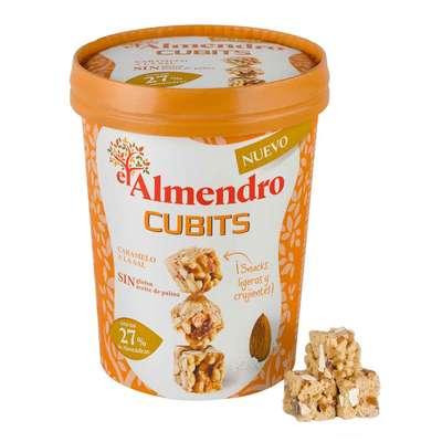 Кубики миндаль 27% и злаки с соленой карамелью El Almendro 120 гр, фото 2