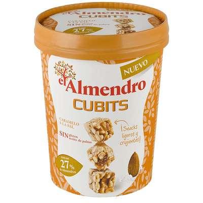 Кубики миндаль 27% и злаки с соленой карамелью El Almendro 120 гр, фото 1