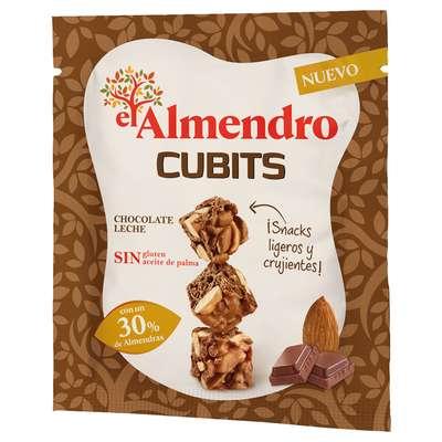 Кубики миндаль 30% и хрустящий рис с молочным шоколадом El Almendro 35 гр, фото 1