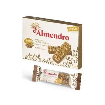 Ореховый батончик из миндаля и фундука с молочным шоколадом El Almendro 125 гр, фото 2