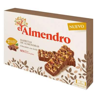 Ореховый батончик из миндаля и фундука с молочным шоколадом El Almendro 125 гр, фото 1