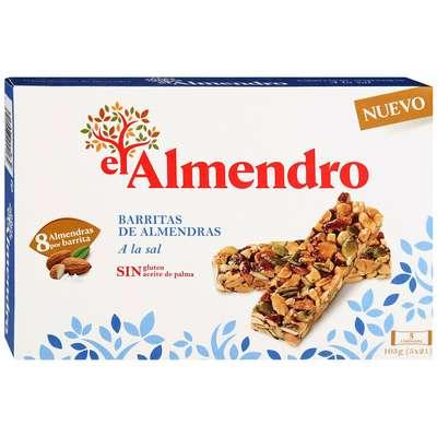 Ореховый батончик из миндаля и фундука с солью El Almendro 105 гр, фото 1