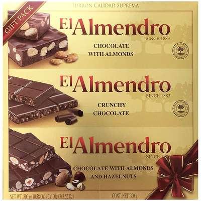 Ассорти 3 вида шоколадного туррона в подарочной упаковке El Almendro 300 гр, фото 2