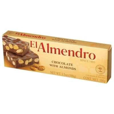 Шоколадно - миндальный туррон El Almendro 100 гр, фото 1