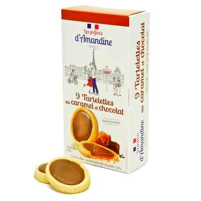 Тарталетки с соленой карамелью и молочным шоколадом Les Preferes d'Amandine 125 гр, фото 2