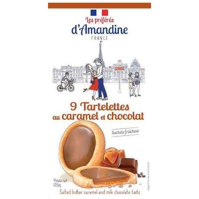 Тарталетки с соленой карамелью и молочным шоколадом Les Preferes d'Amandine 125 гр, фото 3