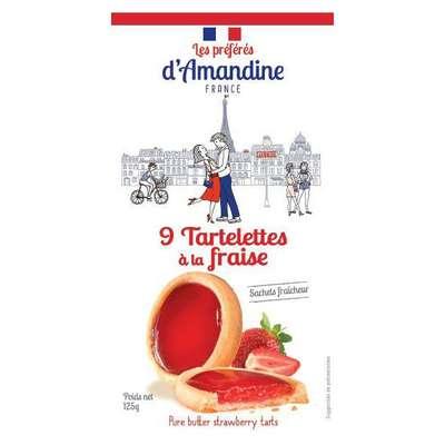 Тарталетки с клубникой Les Preferes d'Amandine 125 гр, фото 2