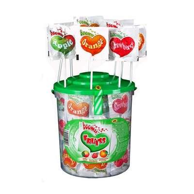 Леденец шипучий на палочке Сердечко Fruit Astra 12 гр x 80 шт, фото 1