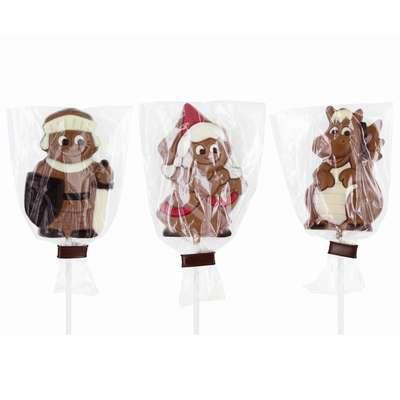 Молочный фигурный шоколад на палочке Герои сказок Belfine 35 гр x 21 шт, фото 3
