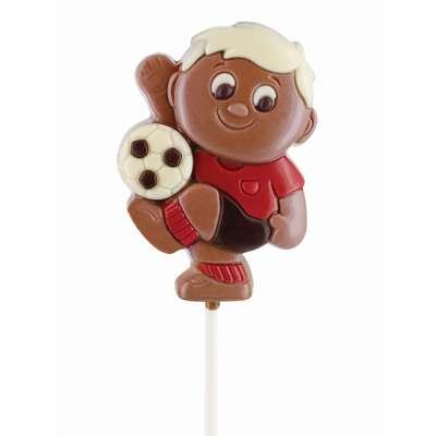 Молочный фигурный шоколад на палочке Футбол Belfine 35 гр x 21 шт, фото 2