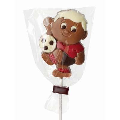 Молочный фигурный шоколад на палочке Футбол Belfine 35 гр x 21 шт, фото 3