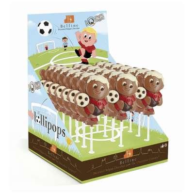 Молочный фигурный шоколад на палочке Футбол Belfine 35 гр x 21 шт, фото 1