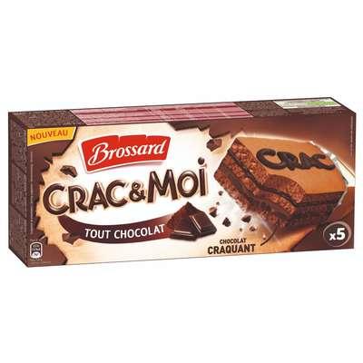 Кекс шоколадный с шоколадной начинкой Crac&Moi Brossard 155 гр, фото 1