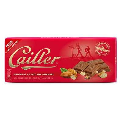 Шоколад молочный с миндалем Cailler 100 гр, фото 1