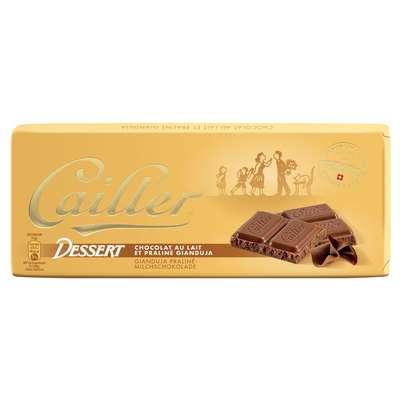 Молочный шоколад с пралине джандуя Cailler Dessert 100 гр, фото 1