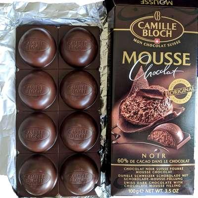 Горький шоколад с начинкой из шоколадного мусса Mousse Noir 100 гр, фото 3