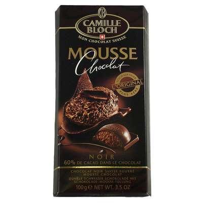 Горький шоколад с начинкой из шоколадного мусса Mousse Noir 100 гр, фото 2