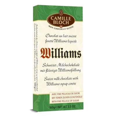 Молочный шоколад с грушевой водкой Williams Camille Bloch 100 гр, фото 1