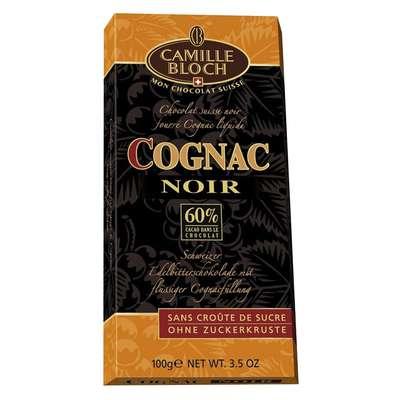 Горький шоколад с коньяком Camille Bloch Cognac Noir 100 гр, фото 1