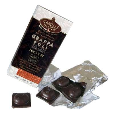 Горький шоколад с граппой Camille Bloch Grappa Poli Noir 100 гр, фото 2