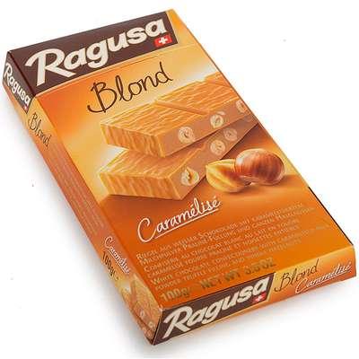 Белый шоколад с трюфельной начинкой и целыми лесными орехами Ragusa Blond 100 гр, фото 1