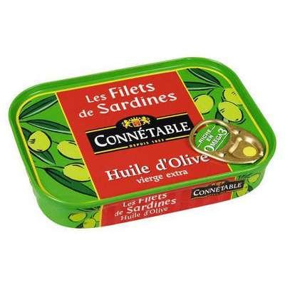 Филе сардин в оливковом масле экстра Connetable 100 гр, фото 1