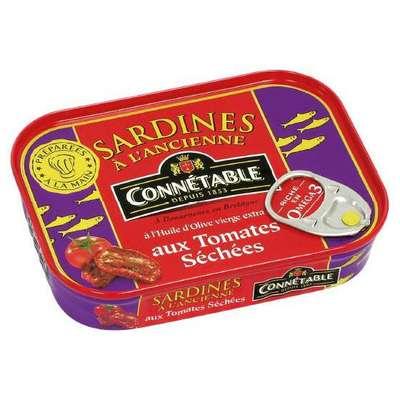 Сардины в оливковом масле с сушеными томатами Connetable 115 гр, фото 1